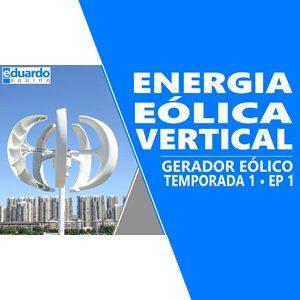 Gerador Eólico Vertical de 600 Watts para Testes