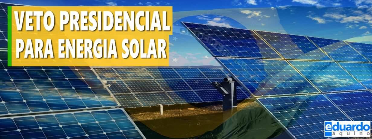 Bolsonaro VETA Projeto que Concede ISENÇÃO Fiscal Para Energia Solar