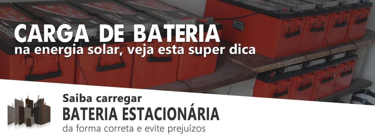 Carga de Bateria Estacionária na Energia Solar OffGrid - Dica Importante
