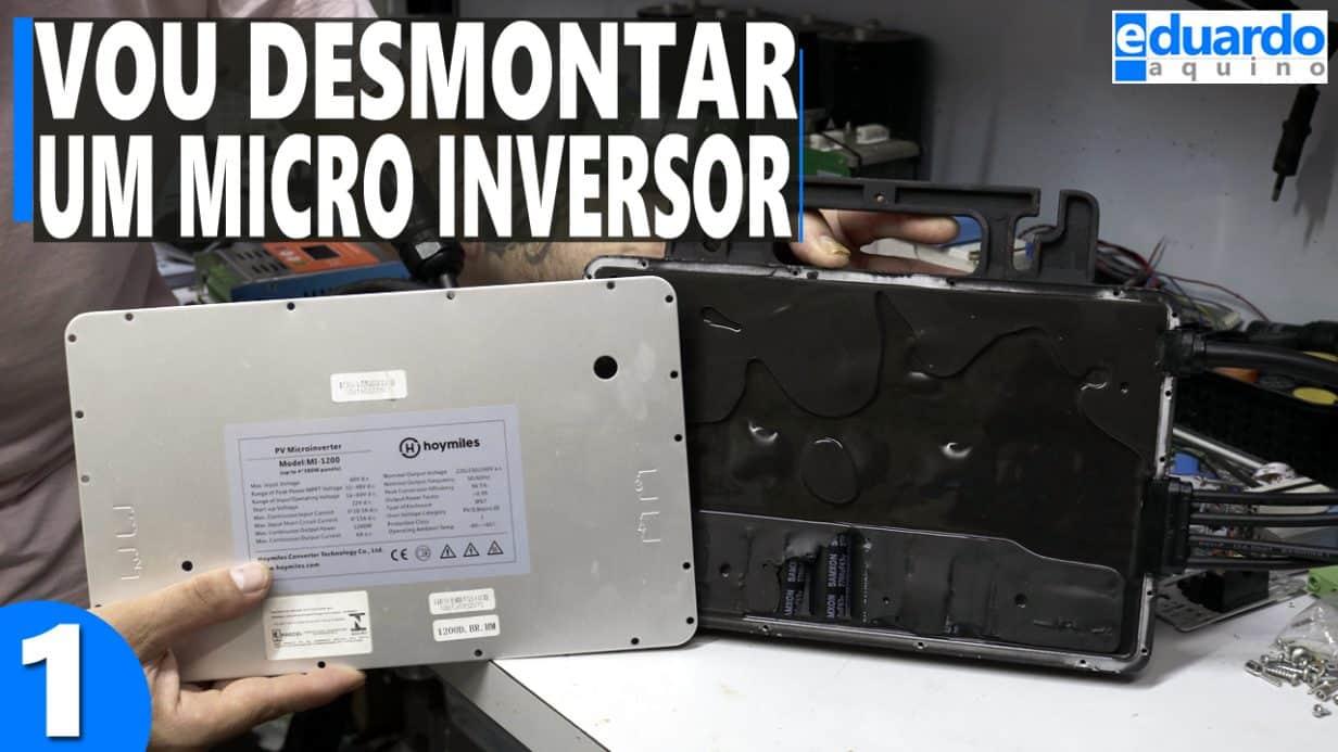 DESMONTANDO Microinversor Hoymiles MI-1200