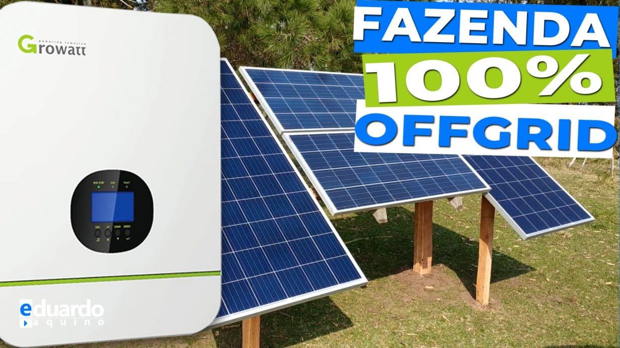 Energia Solar OffGrid 100% do Aluno Patrício do Uruguay