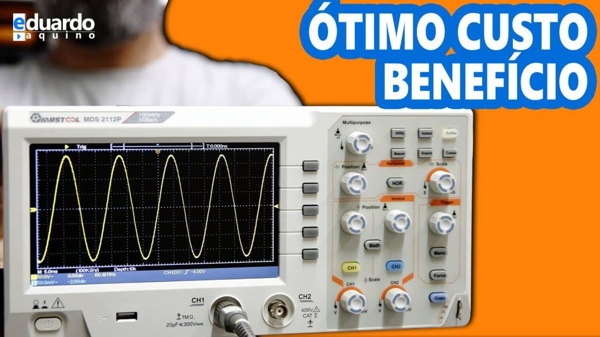 Osciloscópio BARATO e Muito BOM