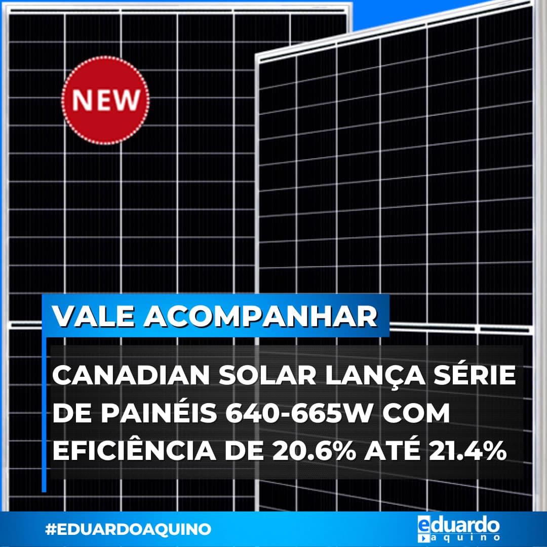 Painéis Solares 665Wp Canadian Solar