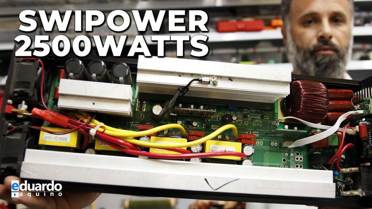 Inversor SWIPOWER 2500W Forma de Onda e Detalhes por Dentro