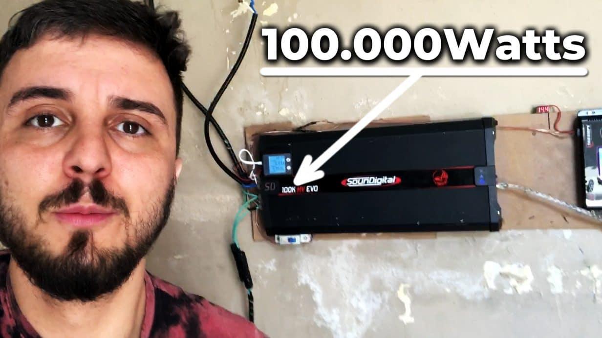 INVERSOR 100.000WATTS com Módulo de SOM AUTOMOTIVO SD100K HV EVO