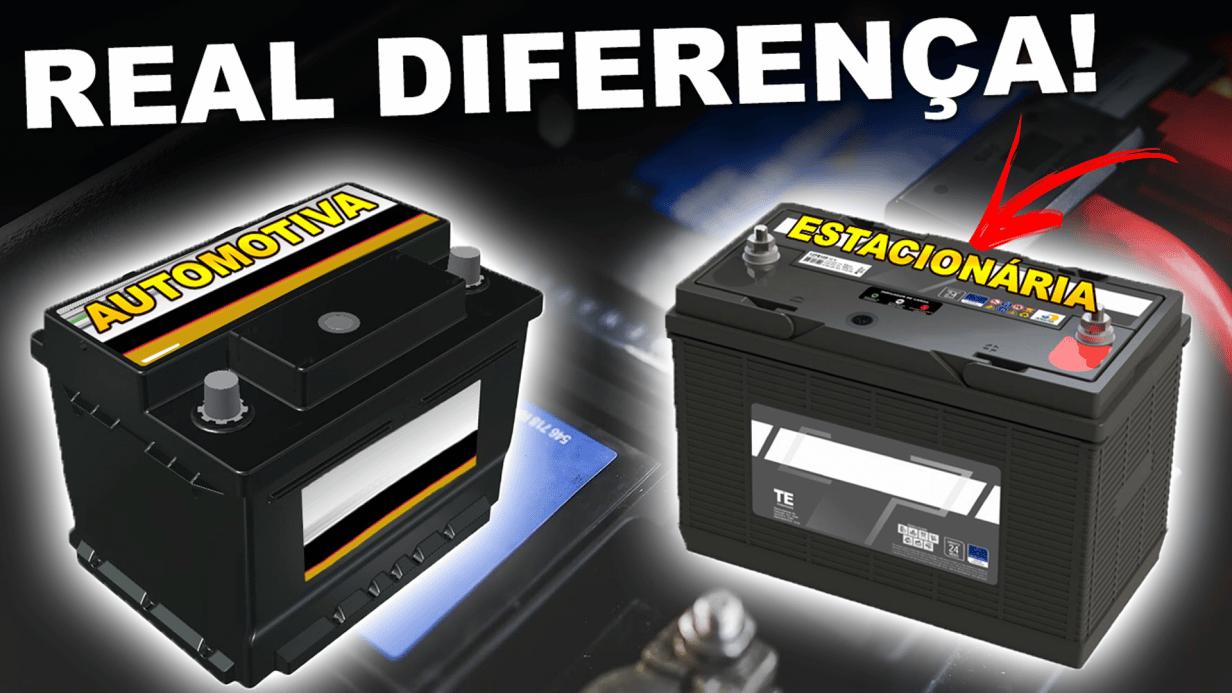 Qual a diferença entre baterias ESTACIONÁRIAS e AUTOMOTIVAS