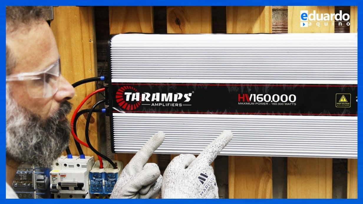 TARAMPS HV 160 como INVERSOR OFFGRID, Consumo, Forma de Onda e Harmônicos