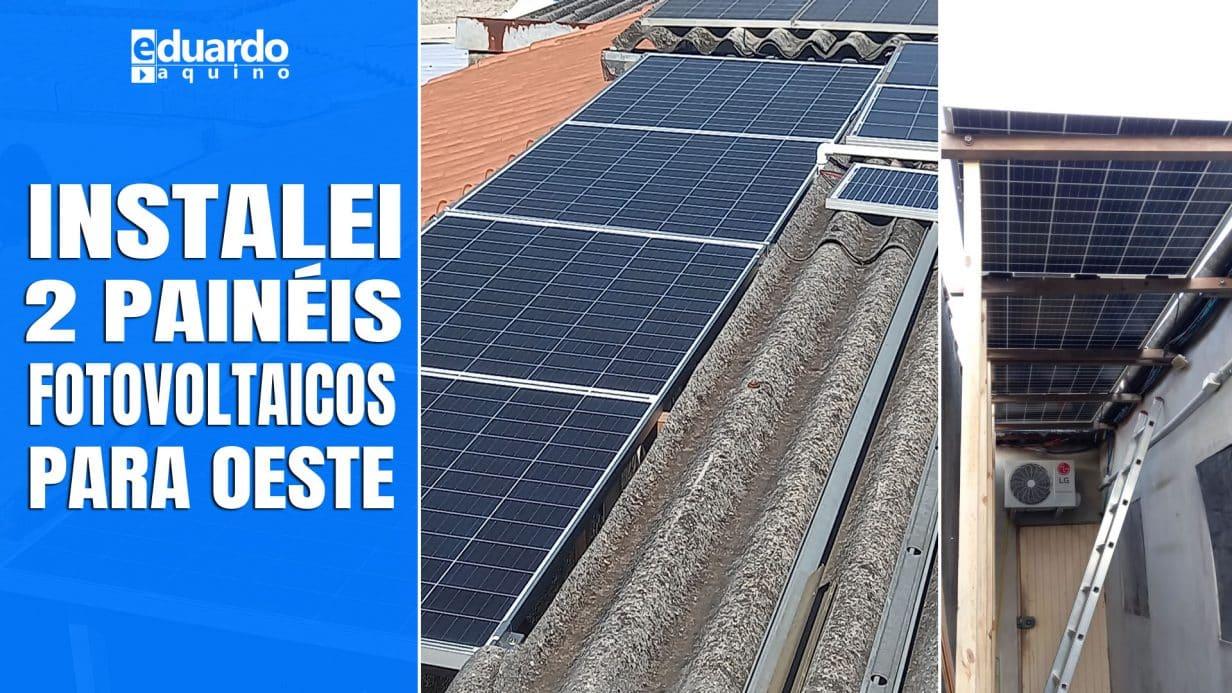 2 Placas Solares 365Wp Para Oeste + Micro Inversor, Quanto Gera