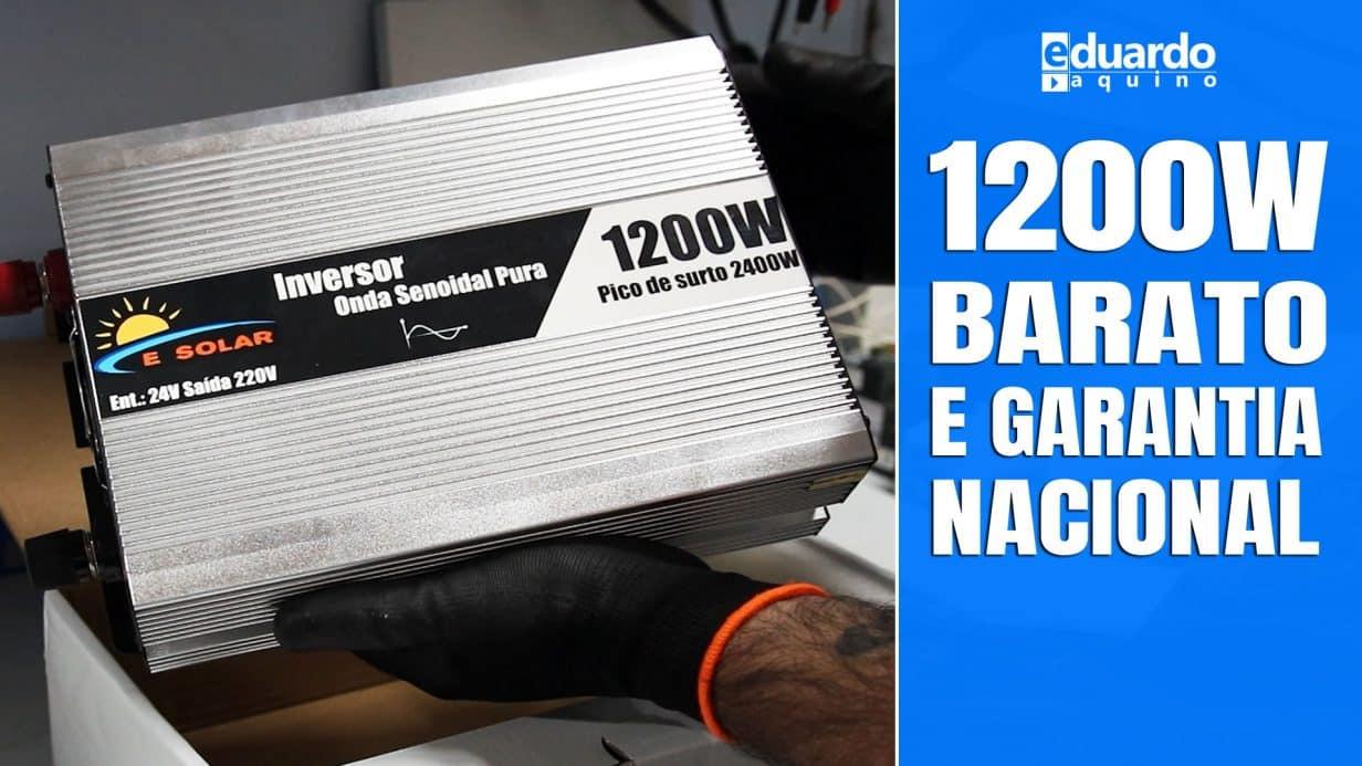 INVERSOR OFFGRID 1200W REAL, Alta Qualidade e Custo Baixo