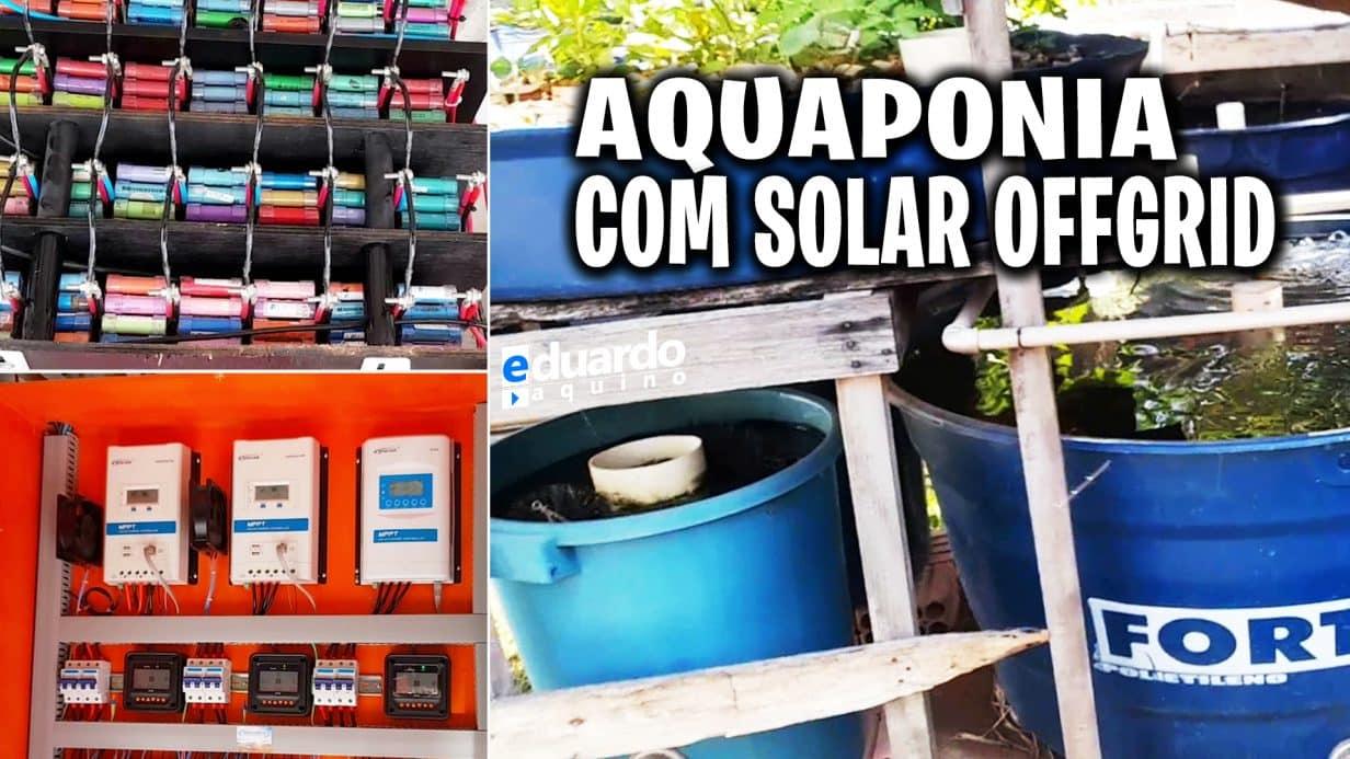 ENERGIA SOLAR OFFGRID para peixes