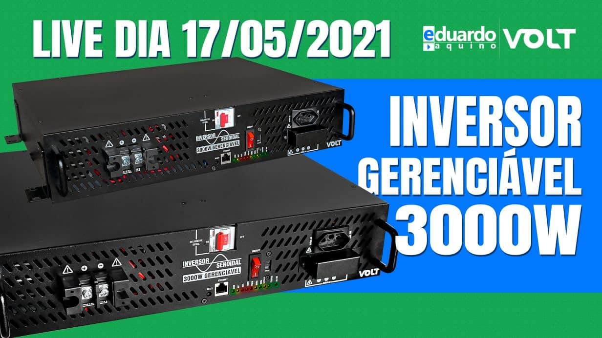 Lançamento Inversor OffGrid 3000W Gerenciável Volt