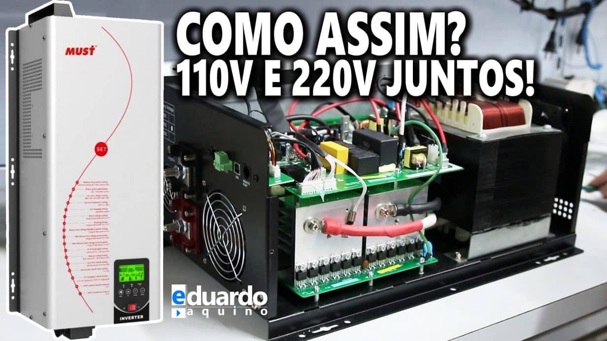 Inversor MUST 3000W Saída 110V e 220V Juntos + 80A MPPT