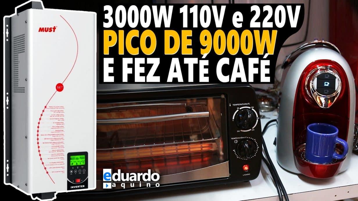 9000W Pico Inversor MUST 3000W 110V e 220V