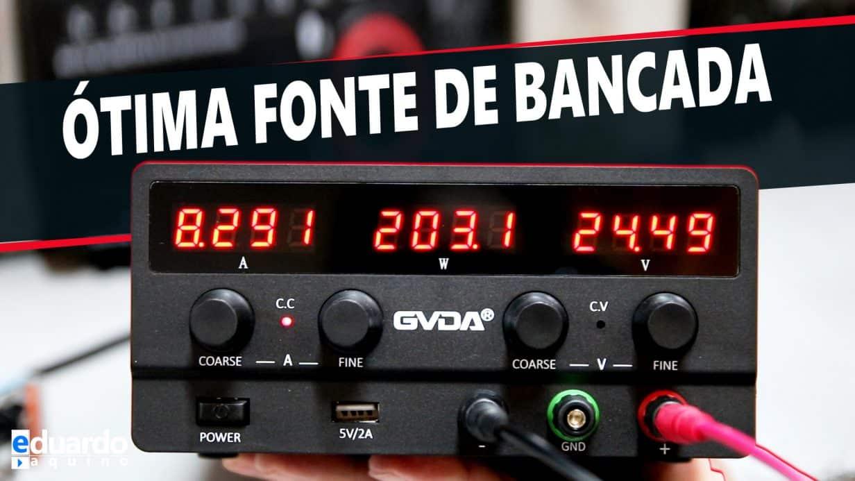 Fonte de Bancada Ajustável 30V 10A 300W GVDA