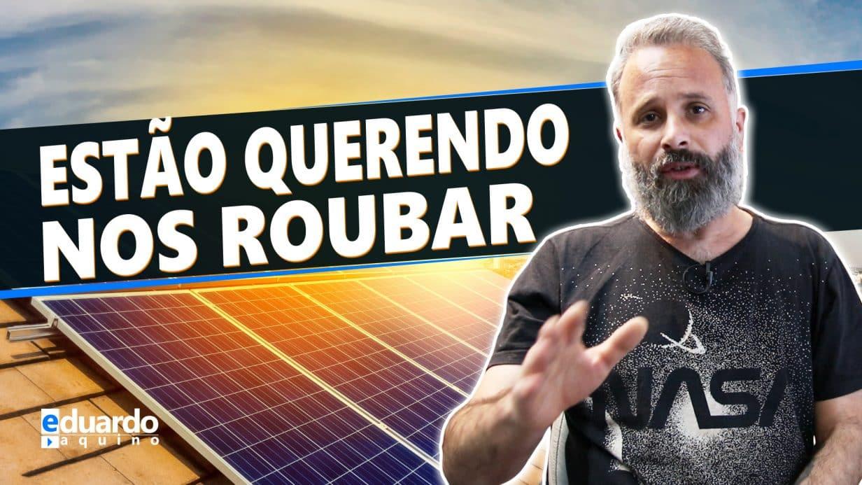 NÃO Querem que nem EU nem VOCÊ tenhamos Energia Solar